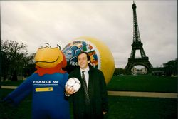 Football World Cup in France 1998. Mascot and stamp