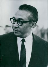 Indonesian Politicians Portrait of the Minister of State for Development Planning and Chairman of Bappenas (Development Planning Agency) since September 1971 Widjojo Nitisastro.