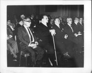 King Farouk of Egypt and his co leaders is watching Irma Capace Minutolo perform in an opera.