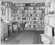 The first image taken by the interior of the author Knut Hamsun's own house at Nørholm