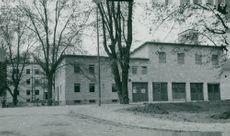 The frontage of the new fire station building in Södertälje