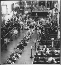 Funeral of the five deceased crewmen from Transair
