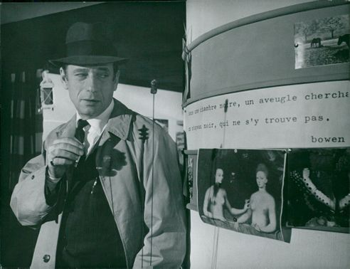 """Yves Montand in the movie """"Death's coupe"""""""