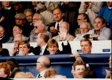 Audience from the Ewood Park arena: Kenny Dalglish and Ray Harford