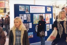 Exhibition at the Gallerian in Stockholm for the affected children in Chernobyl.