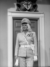"Diana Dors in the series ""The Worm That Turned""."