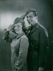 Sickan Carlsson and George Fant in the film Country Storm Little Vixen in 1941.