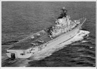 "Soviet fleet's great hangover cruiser ""Kiev"" during Soviet's great navy exercise in the Baltic Sea"