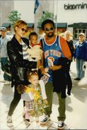 Spike Lee with his family at the premiere of The Quest for Camelot