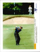 Golf player Mats Lanner at the 11th hole at Wentworth Golf Club during the British Open 1995
