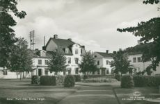 Sater. Party from Stora Torget. Postcard black and white