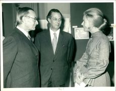 Sir Keith Joseph with The Duchess of Kent and Rev. Chad Varah.