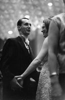 Princess Irene of Netherlands dancing with her husband Duke Carlos Hugo at a party. 1964.