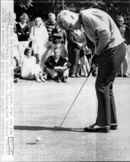 Golf player Tony Lidholm during Scandinavia's largest golf competition in 1968