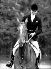 Prinsessan Anne tävlar vid WIndsor Horse Trials
