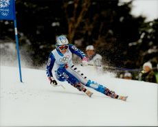 Deborah Compagnoni from Italy drove home Olympic gold in Grand Slalom.