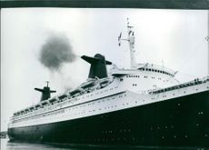 """A photo of the famous luxury liner """"France"""". 1977."""