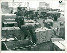 The Royal Scots, the strategic reserve battalion, packing equipment