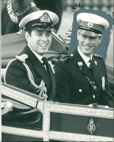 Prince Edward and Prince Andrew.