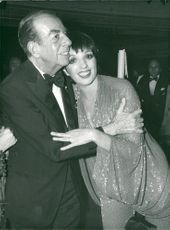 Vincente Minelli together with daughter Liza Minelli.