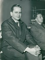 Olof Palme after returning from Algeria
