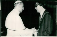 Pope Paul VI and James Mitchell.