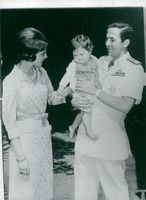 King Konstantin and Queen Anne-Marie of Greece with Princess Alexia