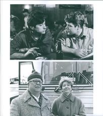 """A photos of Christopher Reed & Sean Astin - Ned Beatty & Mary Ann Thebus in a film """"Rudy""""."""