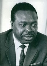 Portrait of South African politician Professor Hudson Ntsanwisi, 1973.