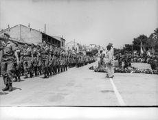 Military men in a formation to honour the death of their fellow soldiers during the Algerian War. The Algerian War, also known as the Algerian War of Independence or the Algerian Revolution  was a war between France and the Algerian independence movements