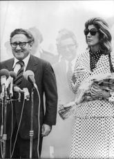 Henry Alfred Kissinger with wife Nancy.