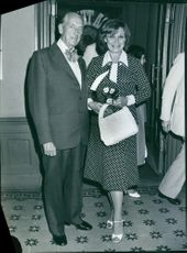 Einar Beyron with Ulla Sallert standing and smiling together.