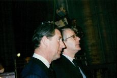 Prince Charles and John Major were guests during François Mitterrand's memorial ceremony in the Notre-Dame de Paris Cathedral