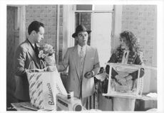 Dean Stockwell and Michelle Marie Pfeiffer on set, filming Married to the mob.