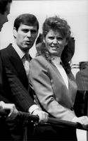 Portrait image of Prince Andrew and Sarah Ferguson taken in conjunction with the opening of a war museum.