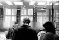 Customers in a bank in West Germany