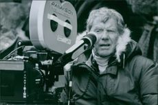 Director Robert Butler on the set of from the film Turbulence.