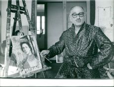 A man with his female royalty painting. 1961