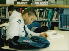 Reading room at the US Air Force Academy
