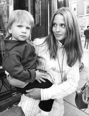 Leigh Taylor-Young with her baby.