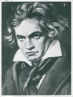 Painting of Ludwig van Beethoven.
