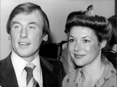Portrait image of actors Christopher Timothy and Carol Drinkwater.