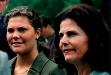 Portrait of Crown Princess Victoria and Queen Silvia