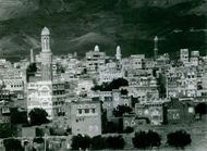 View of cityscape in Yemen.