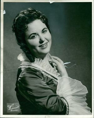 Soprano Joan Stuart flashes a sweet smile
