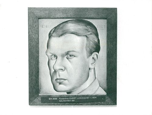 Evert Lundquist's self-portrait from 1927