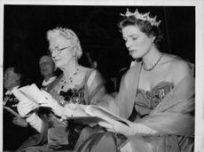 Lady Churchill reading a book.