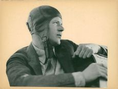 Portrait image of Charles Lindbergh, taken in an unknown context.