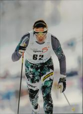 Ski World Cup in Vuokatti. Jochen Behle from Germany in the track