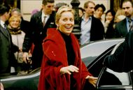 Actress Sharon Stone headed to the airport after a shopping trip in Paris